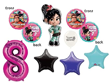 Amazon.com: Vanellope Wreck it Ralph 8th cumpleaños fiesta ...