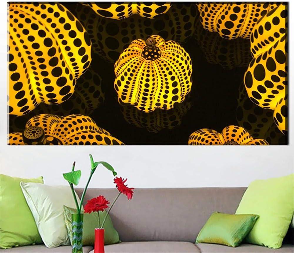 50x100cm Senza Cornice VVSUN Yayoi Kusama Pumpkin Canvas Arts HD Dipinto su Tela Wall Art Canvas Pittura per la Decorazione Domestica Immagine della Parete