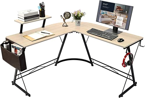 L-Shaped Home Office Computer Desk,Home Gaming Desk PC Table