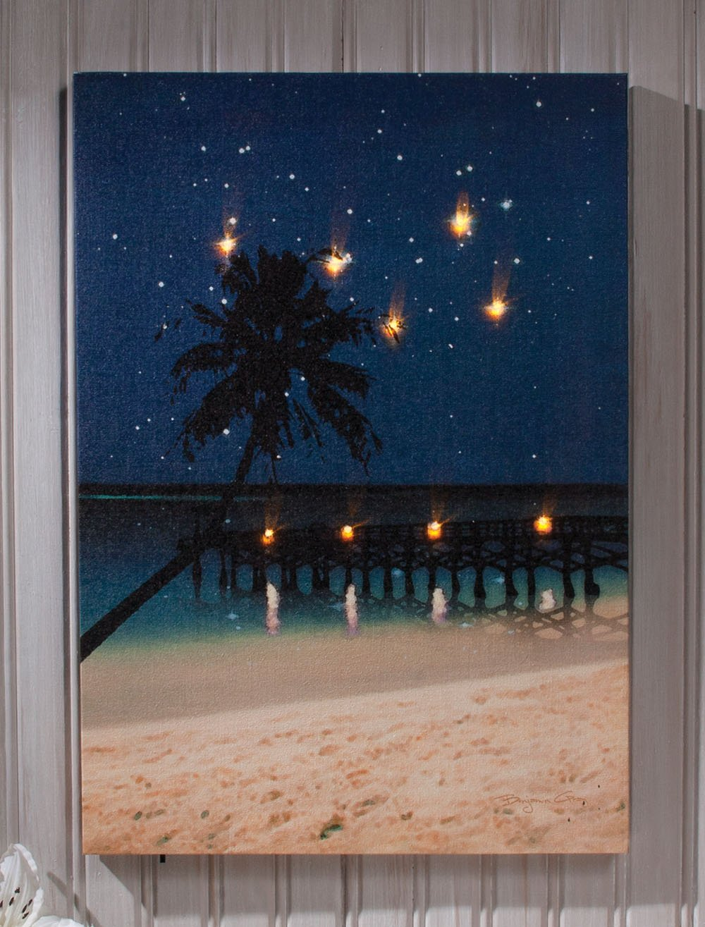 Amazon.com: Ohio Wholesale Radiance Lighted Canvas Wall Art, Starry Night  Beach Canvas Design, From Our Everyday Collection: Prints: Paintings