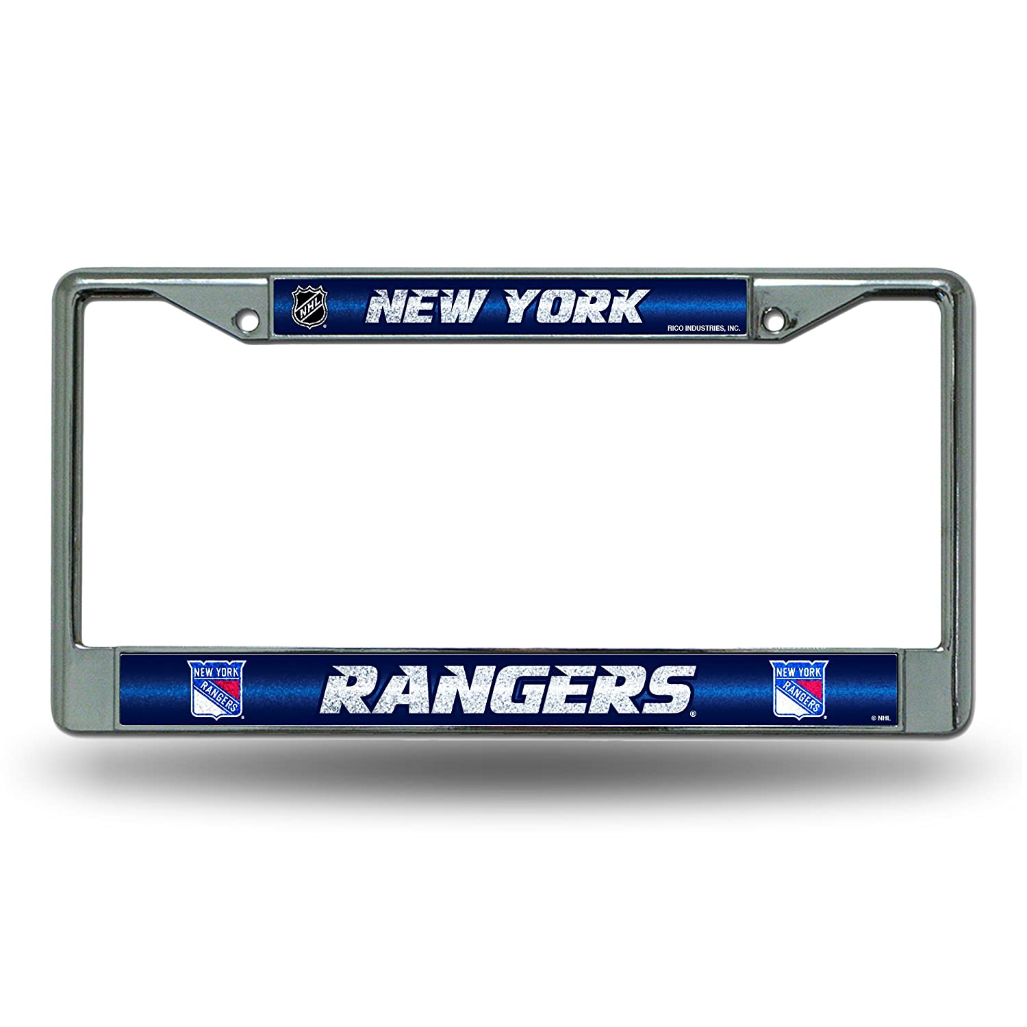 NHL Bling Chrome License Plate Frame with Glitter Accent
