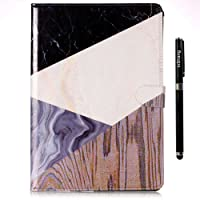 inShang 9.7 inch iPad (2017) case Color Painting Cover for 9.7 inch iPad (2017) Multi-Function Stand case,Art Style+1pc Business Stylus Pen