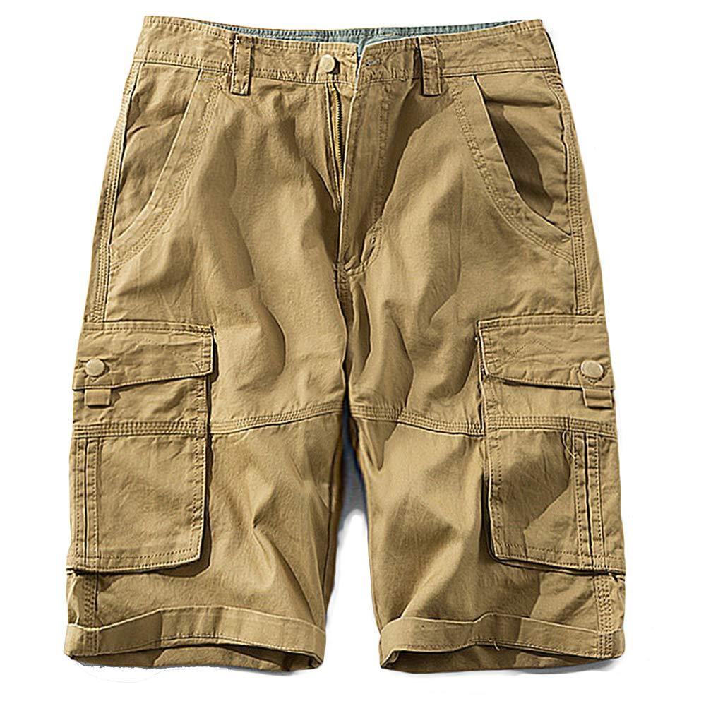 GBRALX Herren-Strandshorts mit Mehreren Taschen für den Außenbereich Lässige Arbeit Cargo Combat Shorts Jogger Surfing Half Pant Trouser