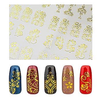 Amazon Elite99 3d Fashion Gold Nail Art Stickers Decals Easy