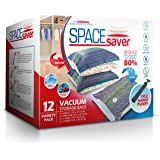 SpaceSaver Premium Vacuum Storage Bags (Lifetime Replacement Guarantee) Variety Pack (3 x Small, Medium, Large & Jumbo) 80% More Storage Than Other Brands! Free Hand-Pump For Travel!