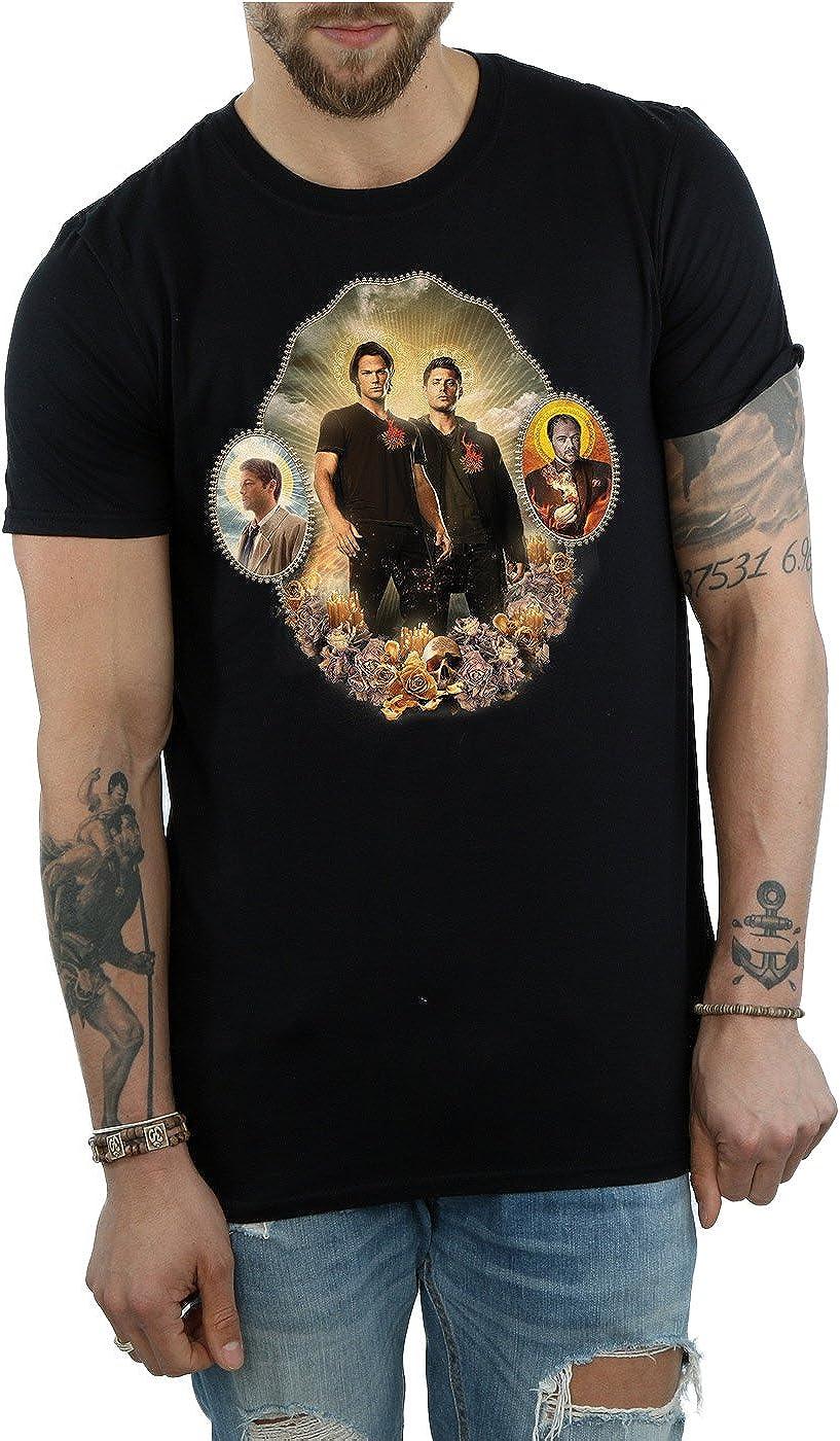 Supernatural Hombre Holy Shrine Camiseta Medium Negro: Amazon.es: Ropa y accesorios