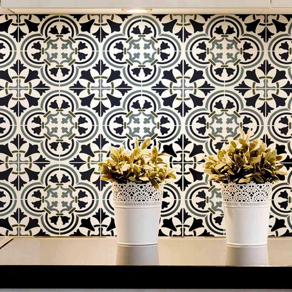- Amazon.com: Augusta Tile Stencil - Portuguese Tile Stencils - DIY