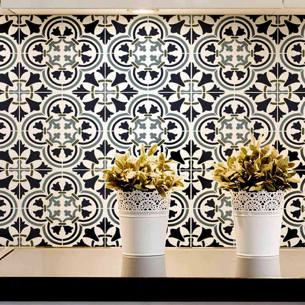 Reusable Stencils Santa Ana Tile Stencil DIY Home Decor