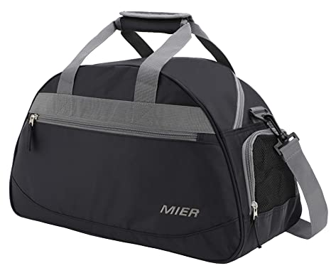 1e854d84f9 Amazon.com | MIER 20inch Sports Gym Bag Travel Duffel Bag with Shoes  Compartment for Women and Men(Black) | Sports Duffels