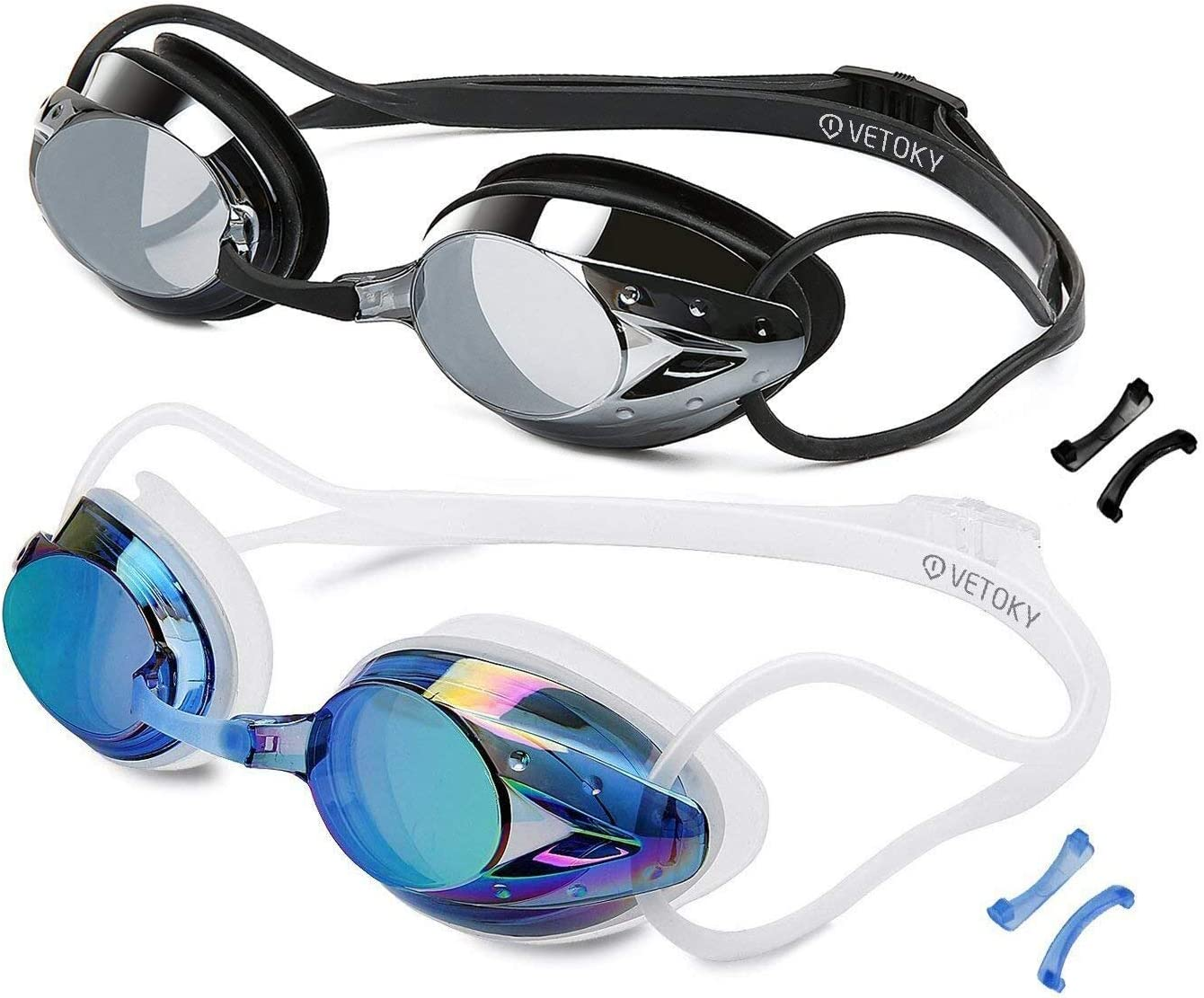 VETOKY Gafas de Natación, Antiniebla Gafas para Nadar Protección UV sin Fugas para Adultos Y Niños