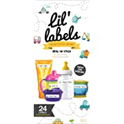 Bottle Labels, Write-On, Self-Laminating, Waterproof Kids Name Labels for Baby Bottles, Sippy Cup for Daycare School, Made in The USA, Dishwasher Safe (Transportation) Boy or Girl
