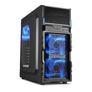 Sharkoon VG5-W - Caja de ordenador gaming (semitorre ATX, iluminación y lacado