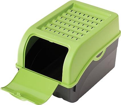 Haas Caja de Patatas y verdura, plástico, Verde, 24 x 24 x 2.5