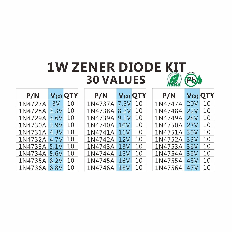 25 x 1N4745A 1N4745 Zener Diode 16  Volt  1 Watt 5/%  FREE US SHIPPING