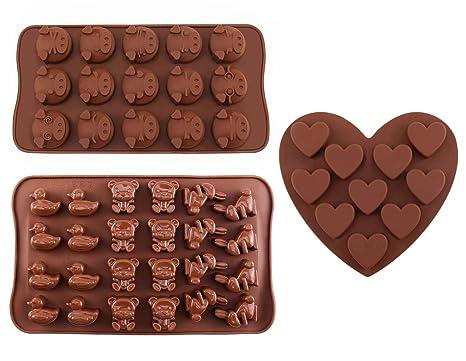 Moldes para chocolate – de silicona Joyoldelf Candy Jelly dulces moldes con diseño de animales y