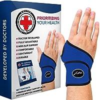Doctor Developed Premium Wrist Support/Wrist Strap/Wrist Brace/Hand Support [Single] & DOCTOR WRITTEN HANDBOOK- RELIEF…