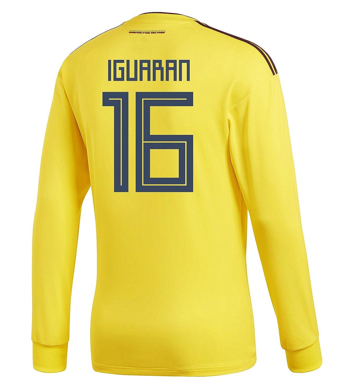 adidas Mens 長袖 IGUARAN US #16 Colombia Home Long Sleeve Mens Soccer Jersey World Cup 2018/サッカー ユニフォーム イグアラン 背番号 16 コロンビア ホーム用 長袖 B07B9LGNFG US Large, 六日市町:cf7f08ad --- 6530c.xyz