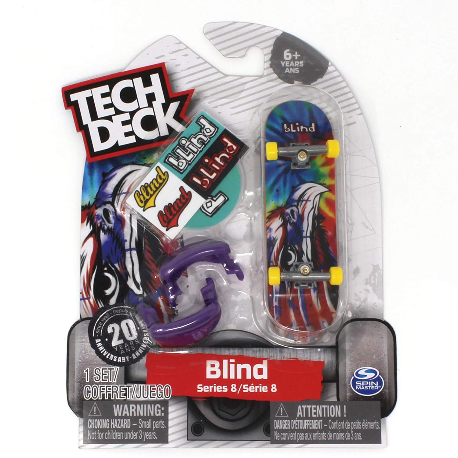 Tech Deck Blind Skateboards Rare Series 8 Eagle Tag Tie Dye Fingerboard 20094609