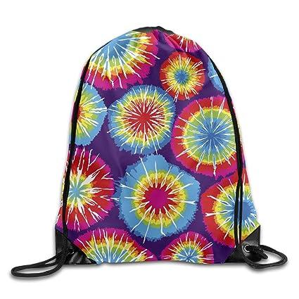 Amazon com: Tie Dye Species Unisex Outdoor Rucksack Shoulder