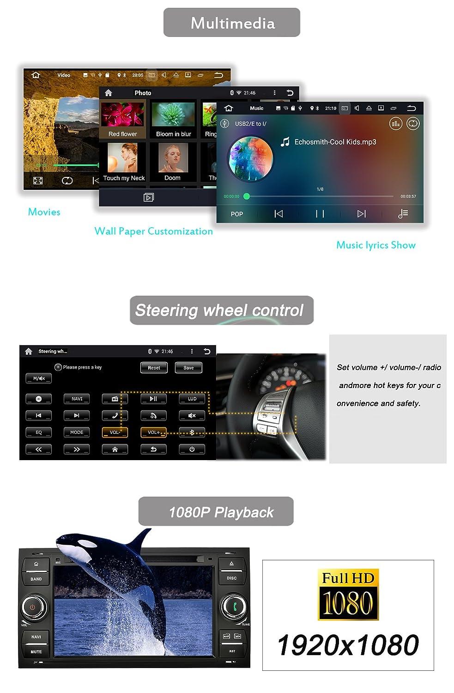YINUO negro 7 pulgadas 2 Din Android 7.1.1 turrón 2 GB RAM Quad Core 1024 HD pantalla táctil Radio de coche receptor estéreo de coche DVD GPS navegación ...