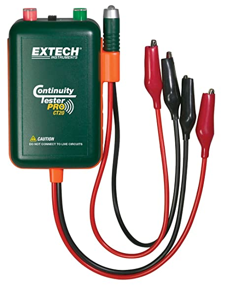 extech ct20 remote and local continuity tester circuit testers rh amazon com house wiring continuity test Audible Continuity Tester