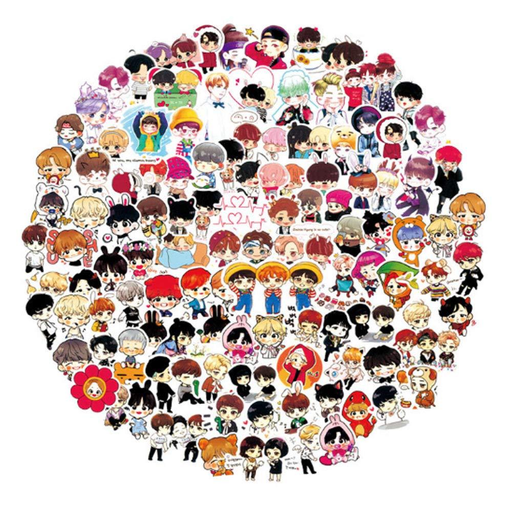 Stickers Calcos 100 un. Kpop BTS Origen U.S.A. (7JFZPY8Y)