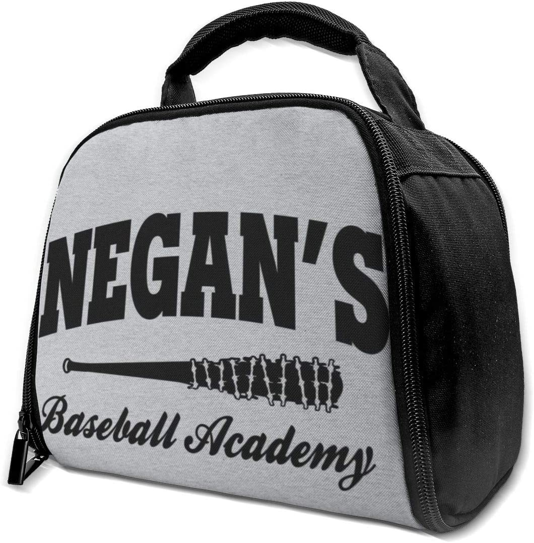 Negans Baseball Academy Walking Dead Reusable Insulation Bags Picnic Lunch Box For Adult And Kids, Lunch Cooler For Office Work