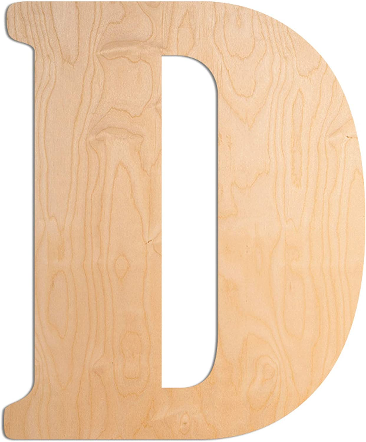 UNFINISHEDWOODCO Wooden Letter Monogram Room Décor - 15 Inches Tall - Unfinished Vintage Wood Letter Large Initials for Bedroom, Wall Decor Above Baby Crib, Nursery or Teen Room - Letter D