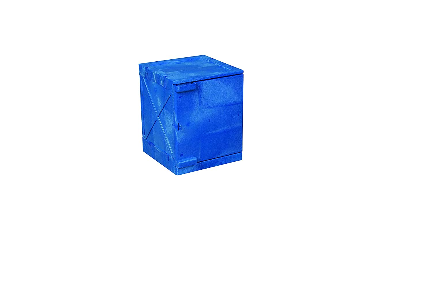 Eagle M04CRA Bench Top Poly Cabinet, 1 Door, 4 gal, Blue