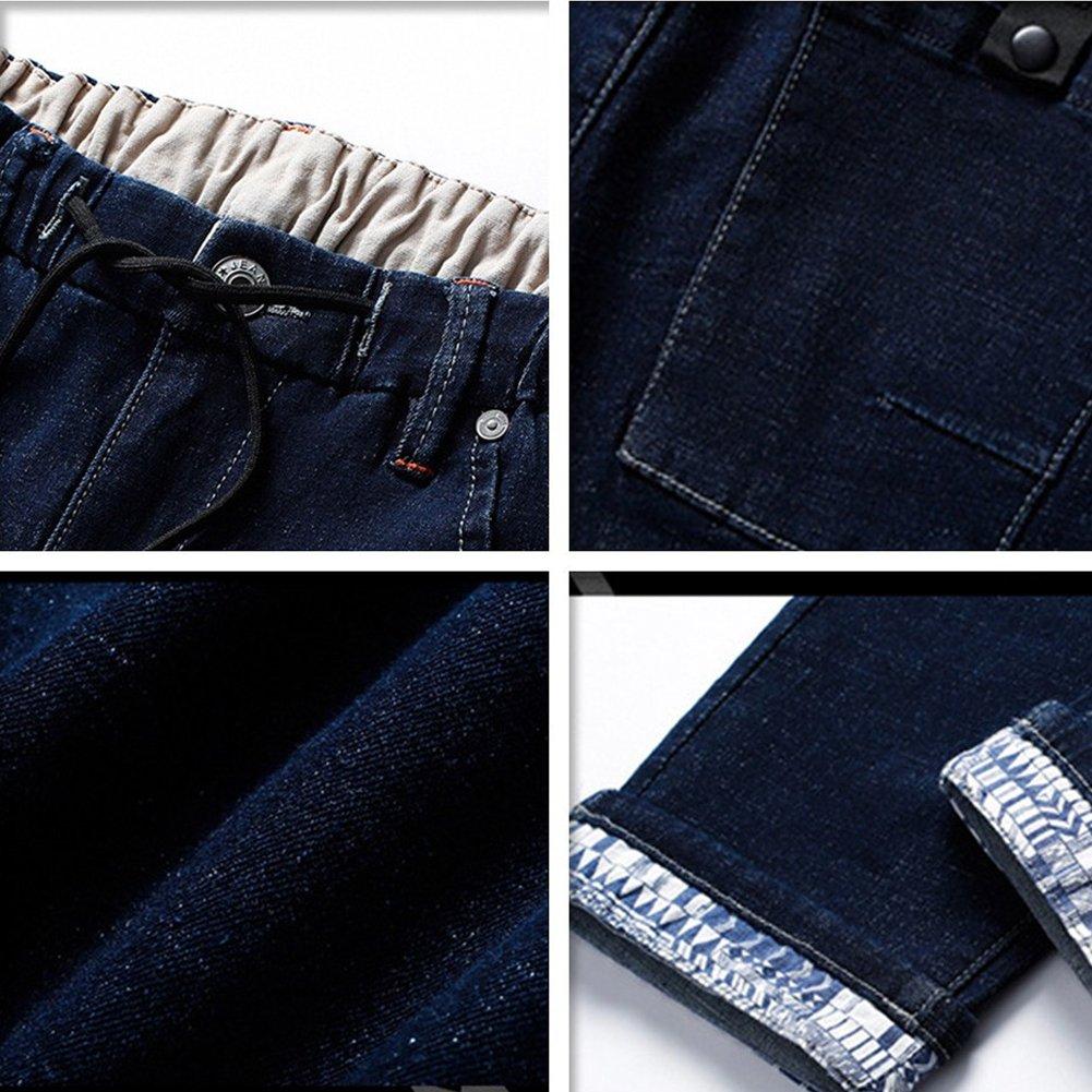 Shunht Mens Summer Leisure Lightweight Denim Shorts Jean Cropped Trousers