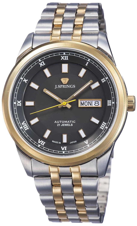 J. Springs Herren-Armbanduhr XL Automatik Serie Analog Automatik Edelstahl beschichtet BEB603