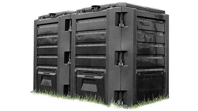 Prosperplast - Compogreen - compostador (800 litros), color negro: Amazon.es: Jardín
