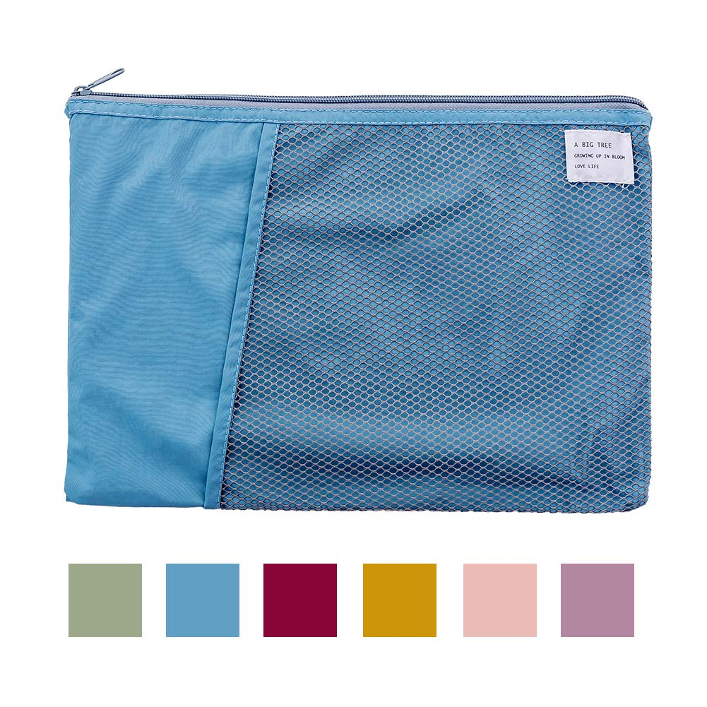 Multifunctional Foldable Portable Paper Pockets Letter Folder,13x9.4 Zipper Envelope File Folders Storage Bags,Accessories Organizer for Artists and Office Documents
