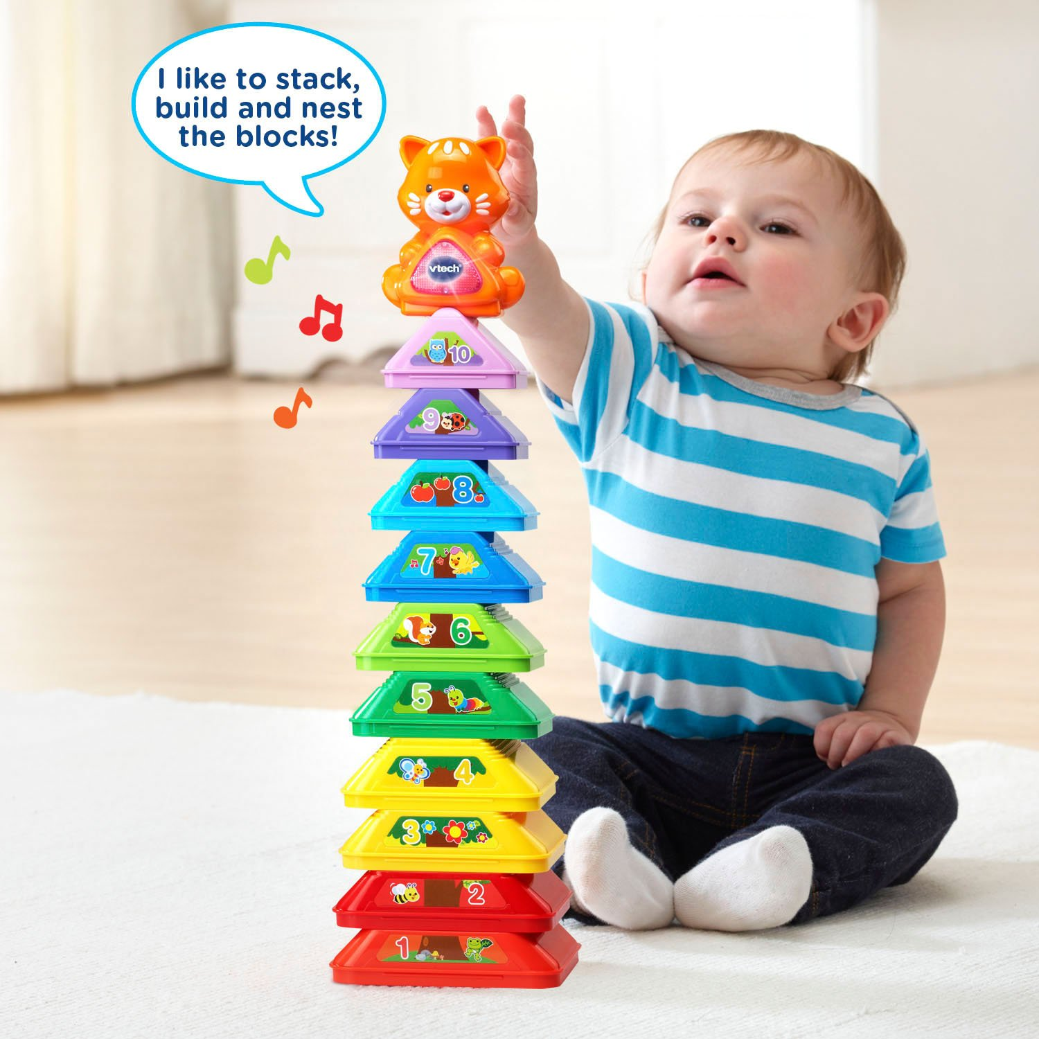 Amazon VTech Nest and Build Tree Stacker Toys & Games