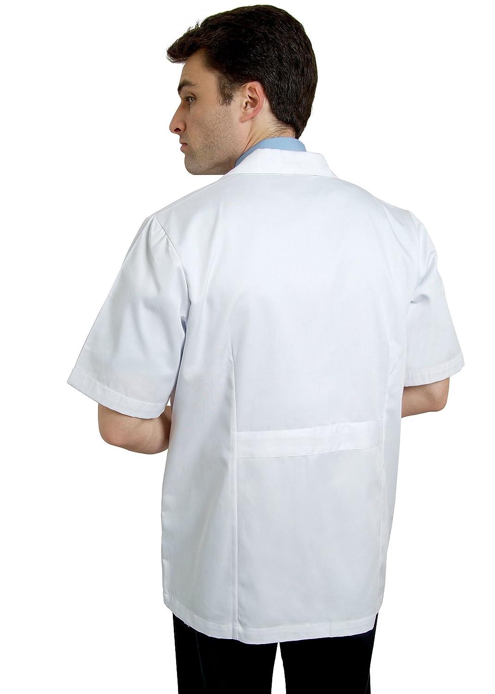 Bata Médica de Laboratorio Para Hombres, Doctores y Científicos - 2816_M Color WHT | Talla: M: Amazon.es: Ropa y accesorios