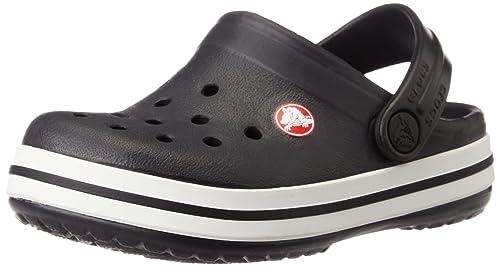1d7a244fe354 crocs Kids Unisex Crocband Black Clogs and Mules - C8C9  Buy Online ...