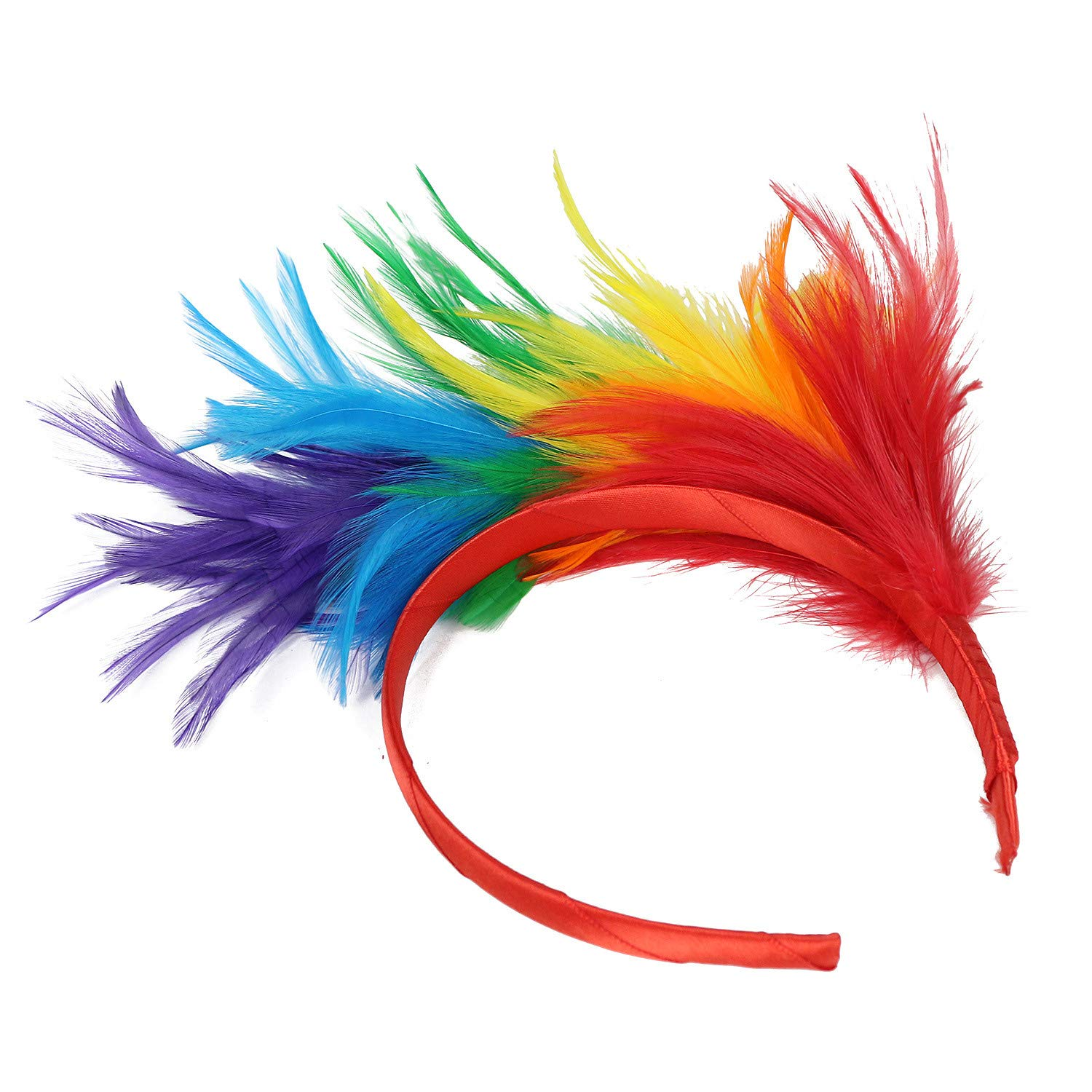 BB67 Fascinator Feathers Headband for Women Kentucky Derby Wedding Party Headwear