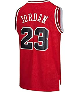 Camiseta de Baloncesto NBA Chicago Bulls para Hombre Michael Jordan # 23 Retro Basketball Swingman Jersey (Rojo, XL): Amazon.es: Ropa y accesorios