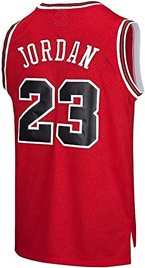 Camiseta de Baloncesto NBA Chicago Bulls para Hombre Michael Jordan # 23 Retro Basketball Swingman Jersey (Rojo, M): Amazon.es: Ropa y accesorios