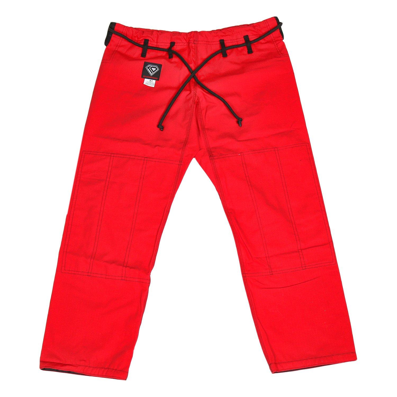 KO Sports Gear's Red Gi Pants - Rip Stop - For Jiu Jitsu (A6) by KO Sports Gear