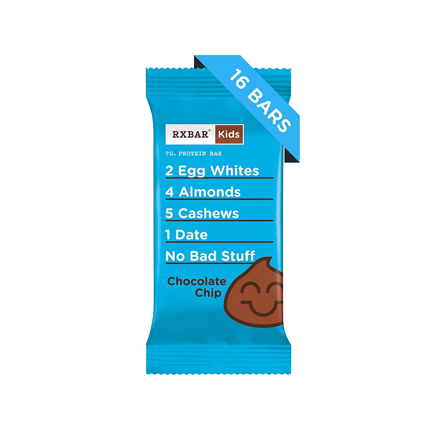 RXBAR Kids Whole Food Protein Bar, Chocolate Chip, 16 Count