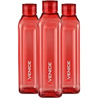 Cello Venice Exclusive Edition Plastic Water Bottle Set, 1 Litre, Set of 3