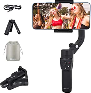 Feiyutech Vlog Pocket 2 Handheld 3-Axis Smartphone Foldable Gimbal Stabilizer for iPhone Xs Max Xr X 8 Plus Android Smartphone 250g Payload Smartphone Width Range 41mm~89mm