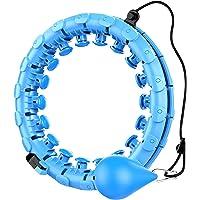 SVHK Gewogen Smart Hula Hoop, 2 in 1 buik Fitness Gewichtsverlies Massage Non-Fall Hoola Hoops, 360 Gegrees Massage Geen…