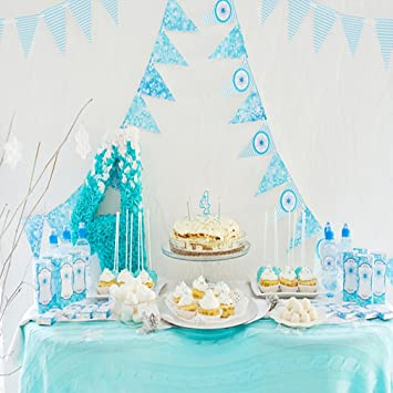 CXJ Blue Flag Cakes Baby Birthdays Background 15X2M 5x65ft Suede Thick