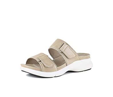 075350c6287 Bussola Womens Julie Slide Doeskin Washed Nappa Sandal (38)