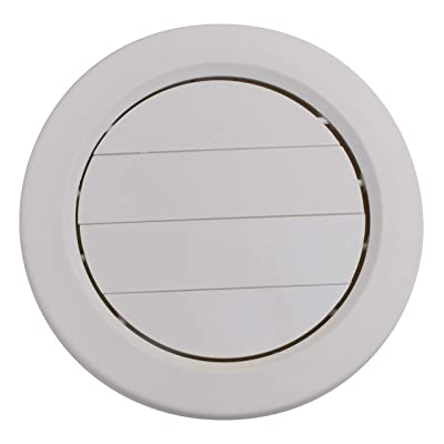"""Valterra A10-3359VP Medium White Rotating Heat and A/C Register with Damper (5"""" ID, 7/8"""" Collar): Automotive"""