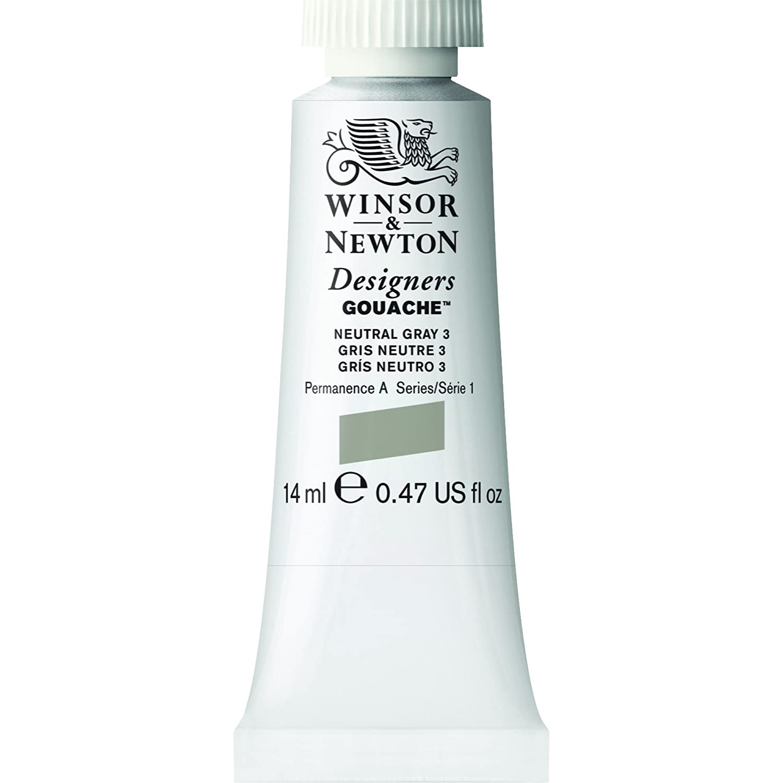 Winsor & Newton Designers Gouache Tube, 14ml, Permanent White 0605512
