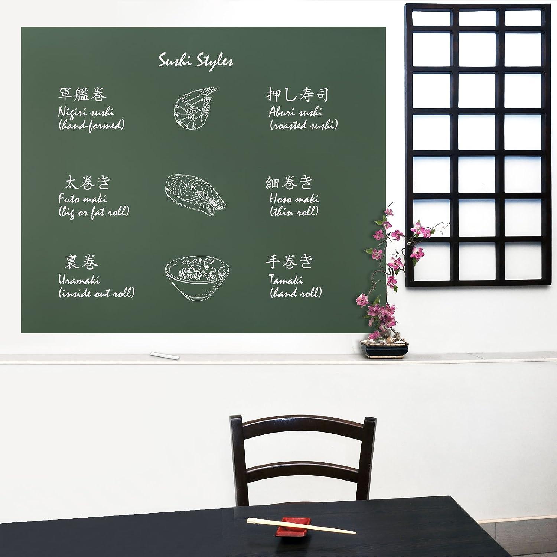 casa pura/® Multifunktions schwarz Tafelfolie Testnote 1,7 60x300cm selbstklebend in 2 Farben