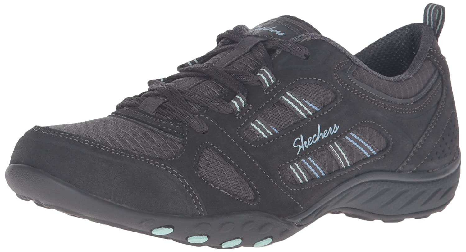 Skechers Damen Breathe-Easy-Good Luck Sneakers  38 EU|Grau (Ccl)